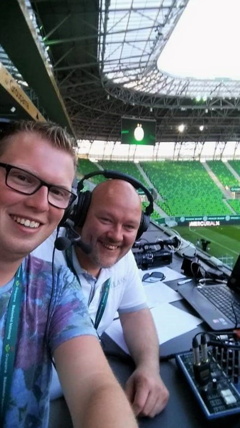 Verslaggevers Sport Live DeventerRTV Erik van Luttikhuizen & Patrick Kieftenbelt