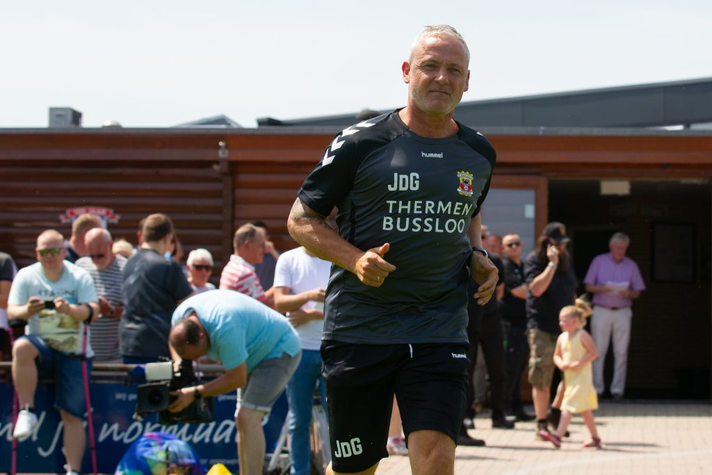 Jack de Gier op 'Klein Milanello'- Go Ahead Eagles - Foto: Henny Meyerink